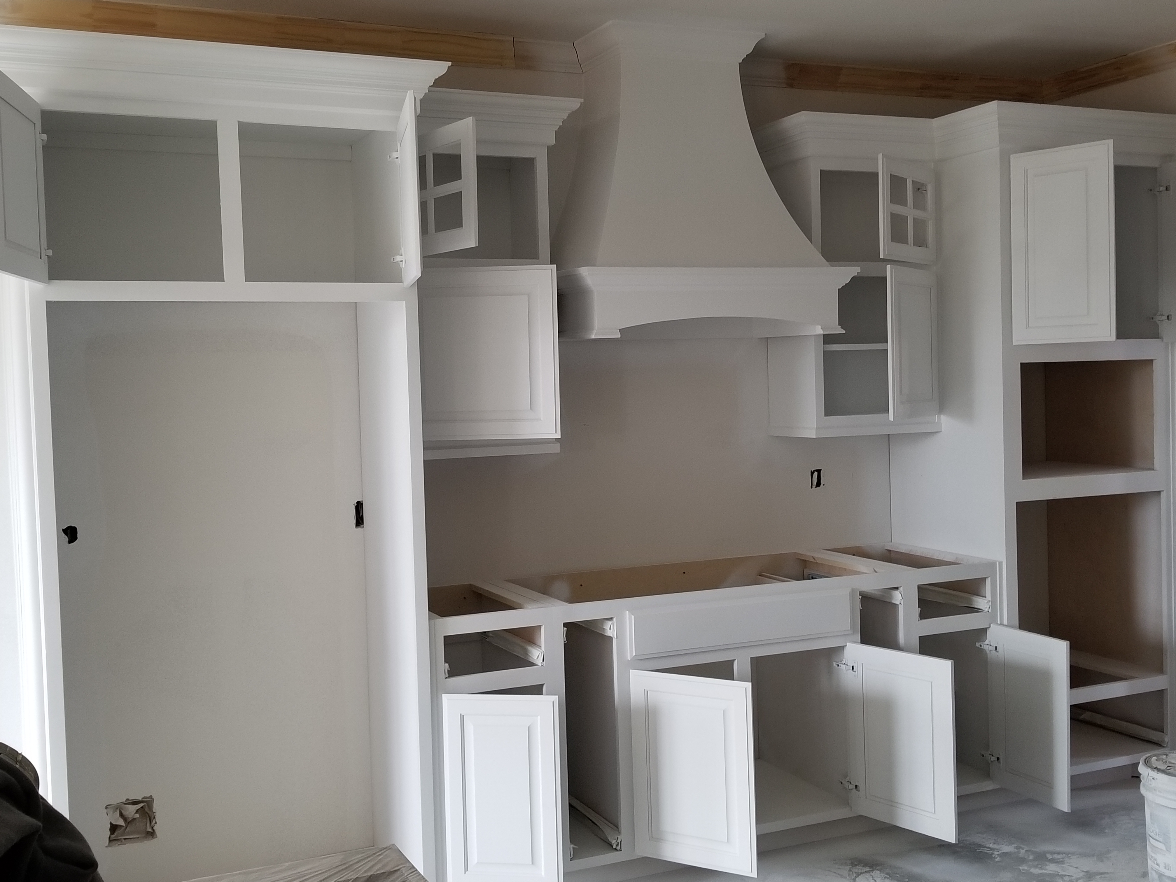 Cabinets painting started